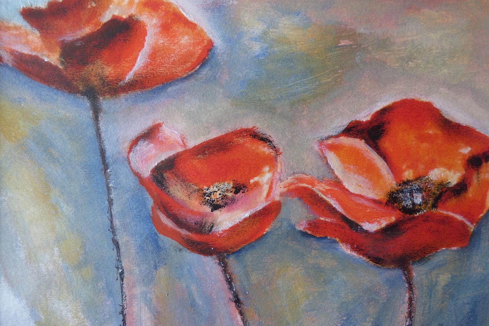Drei Mohnblüten