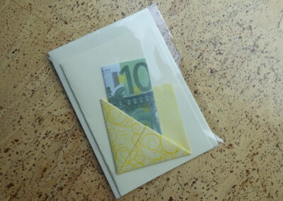 Geldgeschenk Falter