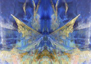 Grußkarte Flügel außen