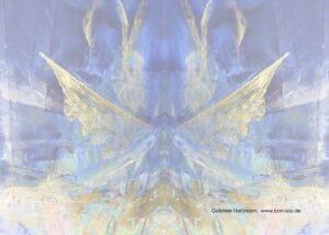 Grußkarte Flügel innen