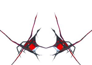Grußkarte Rote Spinne außen